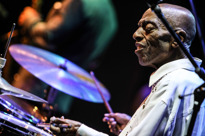 Roy Haynes at the Howard Theatre, June 10, 2017 (Photo by Jati Lindsay)