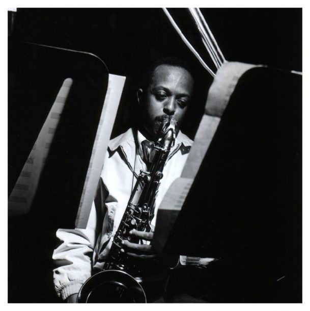 "Jimmy Heath in 1961, a year after releasing his first large-ensemble album, ""Really Big!"" (photo by Francis Wolff/Mosaic Images)"