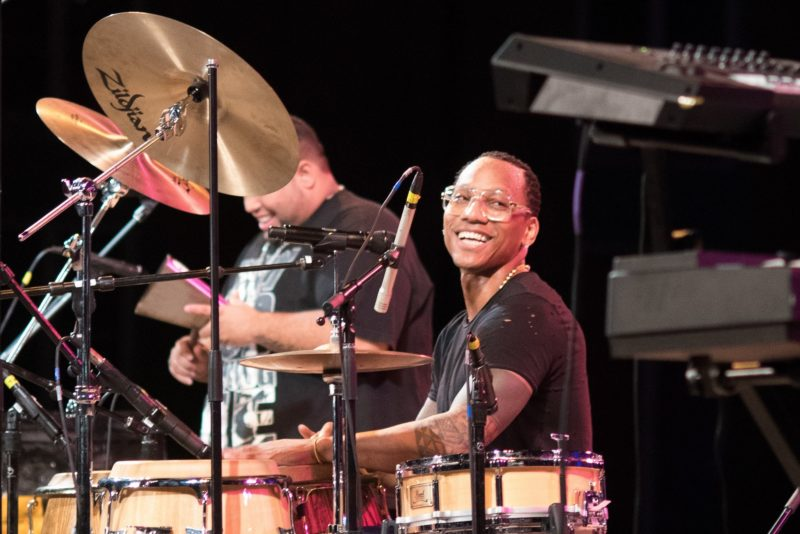 From left: Jhair Sala and Pedrito Martinez (photo by Leigh Webber Photography)