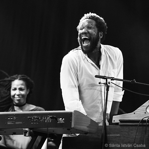 from right: Cory Henry and TIffany Stevenson (photo by Sánta István Csaba)