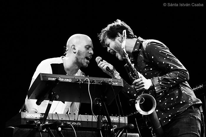 from left: Jason Lindner and Donny McCaslin (photo by Sánta István Csaba)
