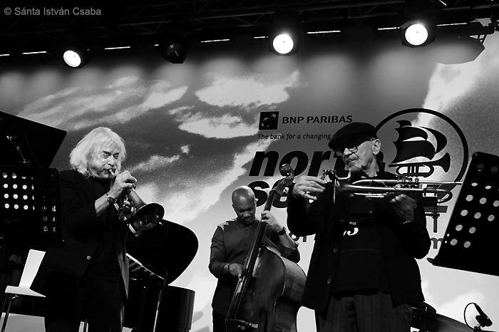 from left: Enrico Rava, Reuben Rogers, Tomasz Stańko (photo by Sánta István Csaba)