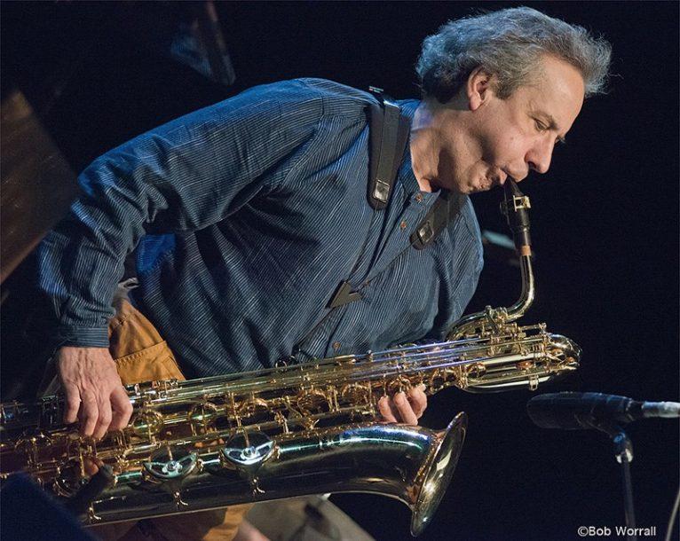 Jean Derome performs with his ensemble et les Dangereux Zhoms (photo by Bob Worrall)