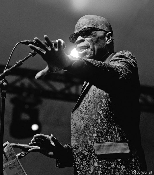"Maceo Parker performs in ""To Ray, with Love: Maceo Parker & the Ray Charles Orchestra featuring the Raelettes"" (photo by Bob Worrall)"