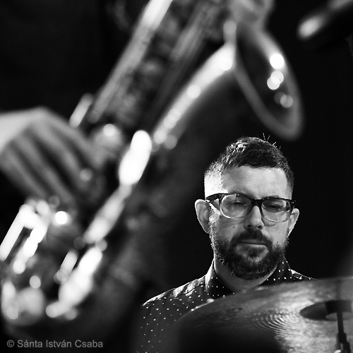 Jason Rigby (on sax in foreground) and Mark Guiliana (photo by Sánta István Csaba)