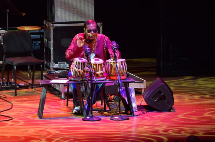 "Percussionist Badal Roy plays in ""Prime Time: A Reunion"" (photo by Stephanie Berger)"