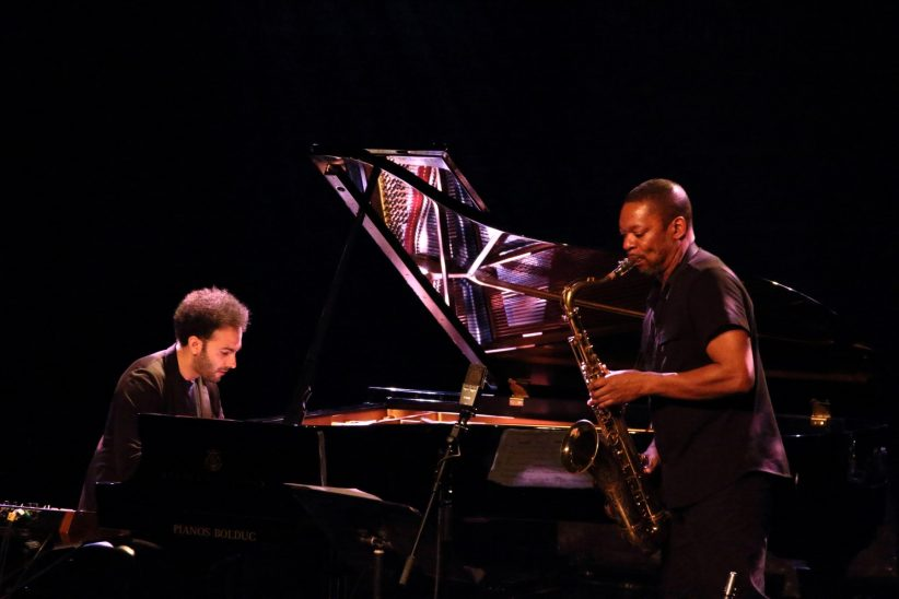 David Virelles and Ravi Coltrane (photo by Sharonne Cohen)