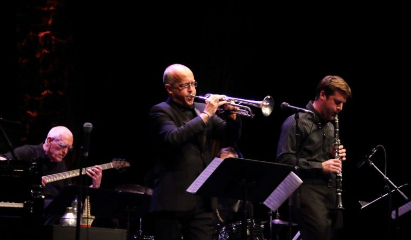 Steve Swallow, Dave Douglas, Jim Doxas (obscured) and Chet Doxas (photo by Sharonne Cohen)