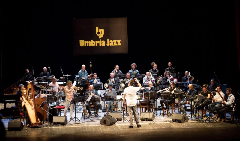 Ryan Truesdell and the Umbria Jazz Orchestra (photo by Tim Dickeson)