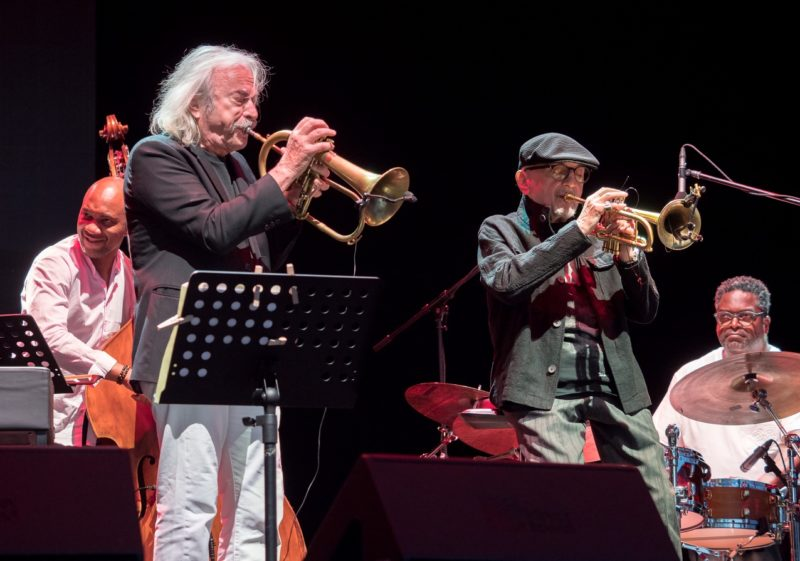 From left: Reuben Rogers, Enrico Rava, Tomasz Stanko and Gerald Cleaver (photo by Tim Dickeson)