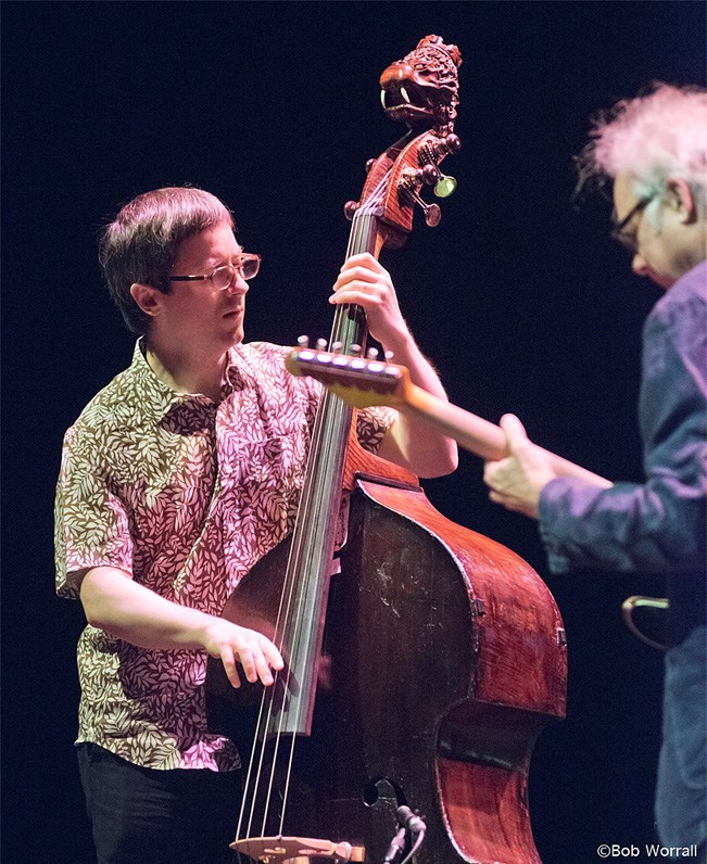 From left: Thomas Morgan and Bill Frisell (photo by Bob Worrall)