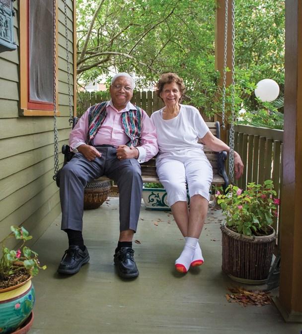 Ellis and Dolores Marsalis (photo courtesy of Elsa Hahne/OffBeat)