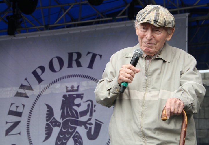 Founding producer George Wein at the 2017 Newport Jazz Festival on Saturday, August 5, 2017.