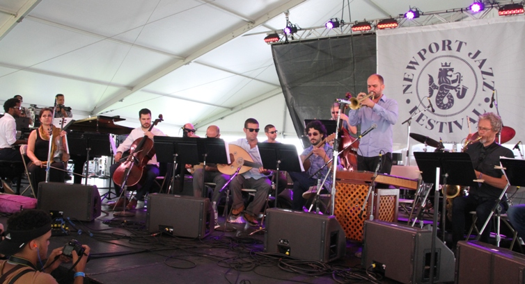 Trumpeter Amir ElSaffar's River of Sounds Orchestra at the Newport Jazz Festival on Friday, August 4, 2017.