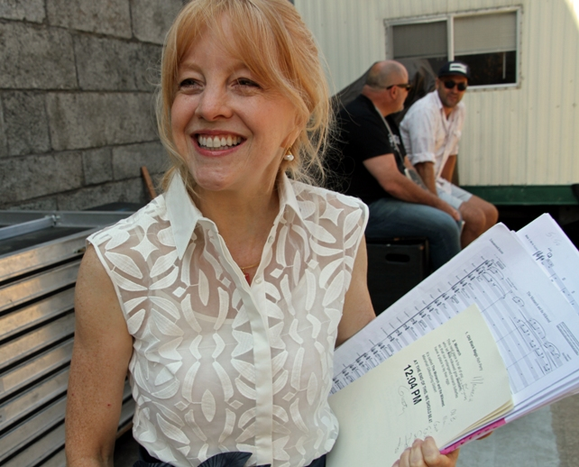 Composer and arranger Maria Schneider backstage at the 2017 Newport Jazz Festival. Her orchestra opened the main stage performances on Sunday, August 6, 2017.