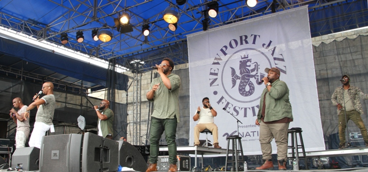 The a cappella group Naturally 7 at the Newport Jazz Festival on Friday, August 4, 2017.