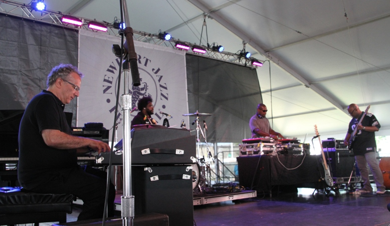 The Philadelphia Experiment teamed pianist Uri Caine, drummer ?uestlove, bassist Christian McBride and DJ Logic at the Newport Jazz Festival on Sunday, August 6, 2017.