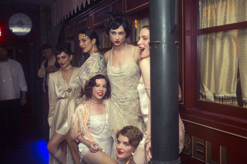 Lillian Lorraine (Syrie Moskowitz, at bottom) and her lovely ladies