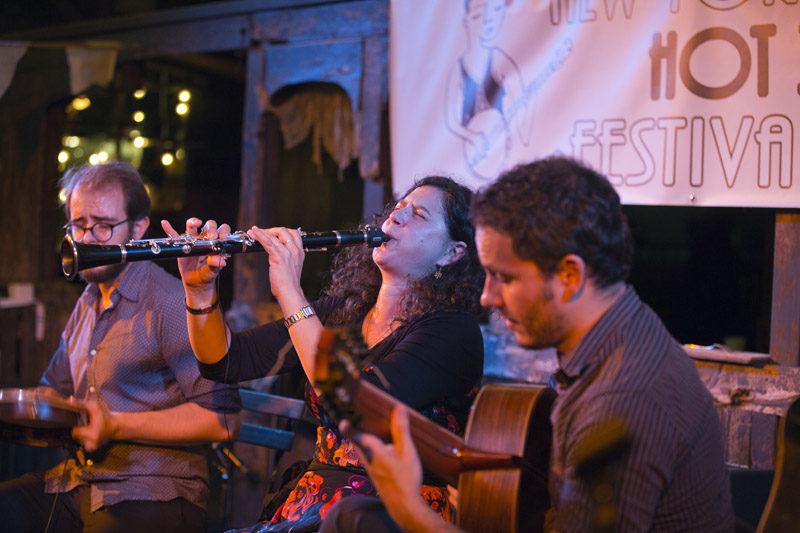 Anat Cohen & Choro Aventuroso, with guitarist Cesar Garabini and percussionist Sergio Krakowski