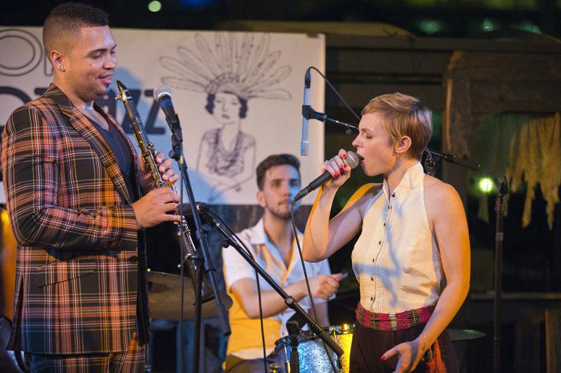 Kat Edmonson and clarinetist Felix Peikli
