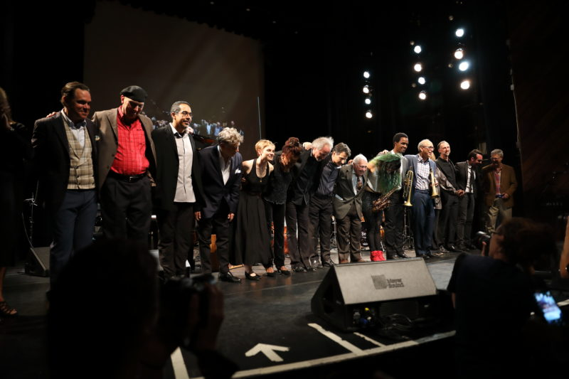 Performers at Fred Taylor Scholarship benefit concert at Berklee Performance Center (photo by Kofi Poku)