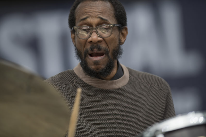 Brian Blade at the 2017 Detroit Jazz Festival