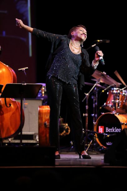 Photo of Catherine Russell at Fred Taylor Scholarship benefit concert