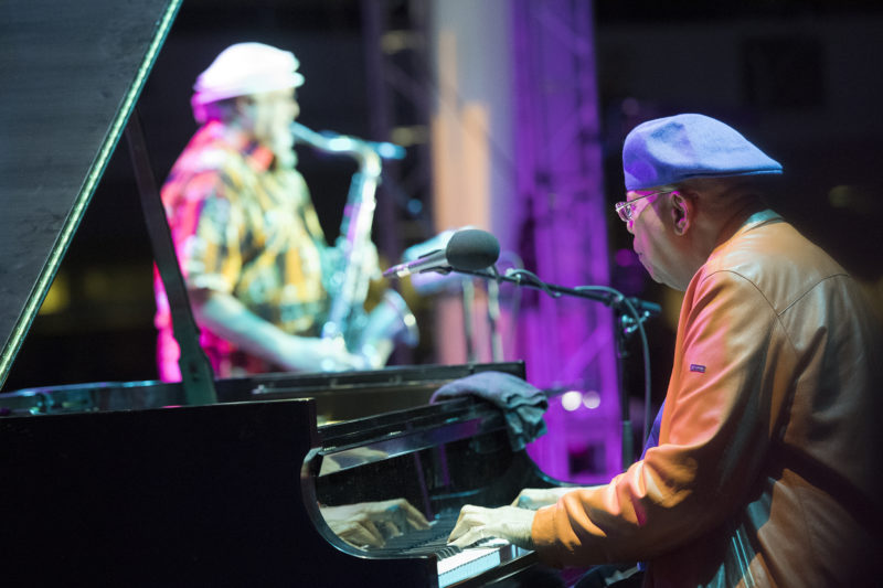 Chucho Valdés and Joe Lovano at the 2017 Detroit Jazz Festival