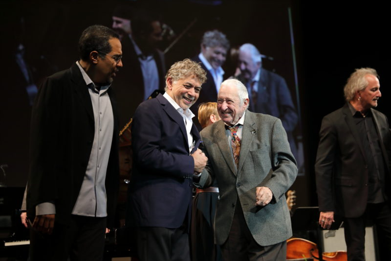 Danilo Perez, Monty Alexander and Fred Taylor at Fred Taylor Scholarship benefit concert at Berklee Performance Center (photo by Kofi Poku)