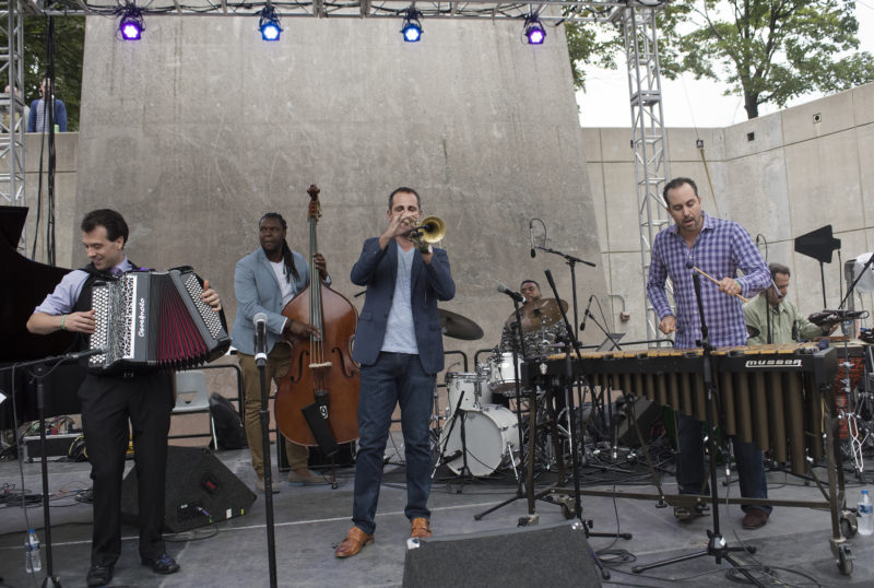 Trumpeter Dominick Farinacci and band at the 2017 Detroit Jazz Festival