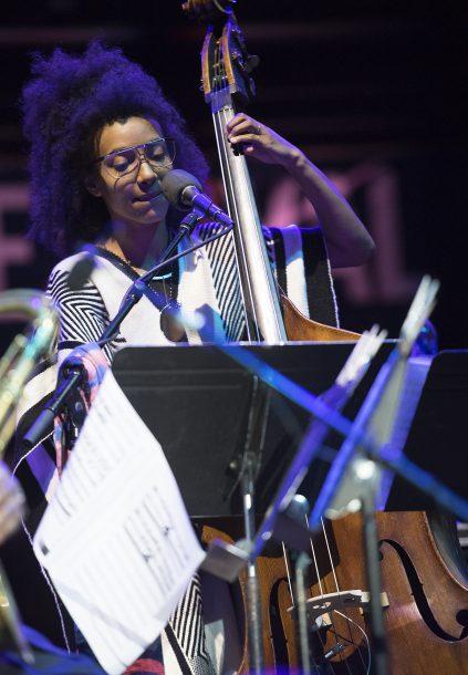 Esperanza Spalding performs at Detroit '17, in a special quartet featuring Wayne Shorter, Terri Lyne Carrington and Leo Genovese