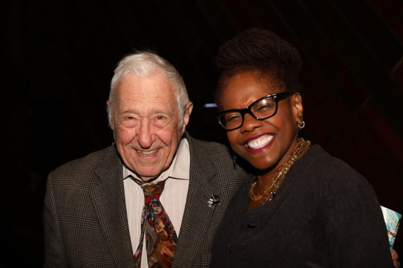 Fred Taylor and Catherine Russell at after party for Fred Taylor Scholarship benefit concert at Berklee Performance Center (photo by Kofi Poku)