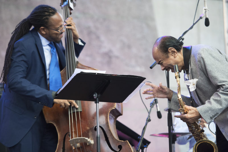 Benny Golson performs at the 2017 Detroit Jazz Festival