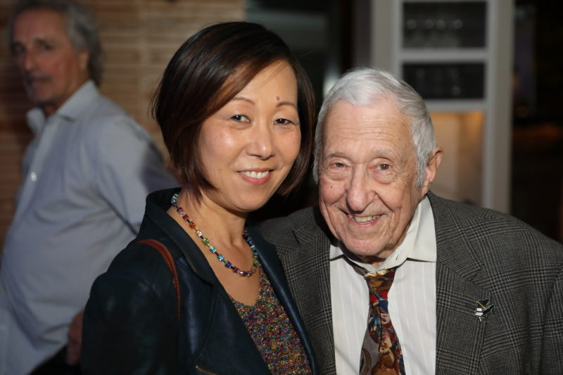 Irene Chang and Fred Taylor at after party for Fred Taylor Scholarship benefit concert at Berklee Performance Center (photo by Kofi Poku)