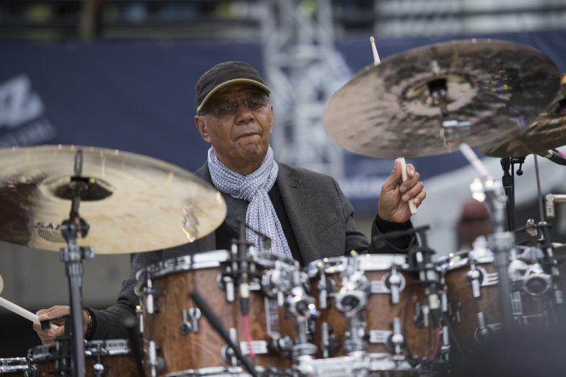 Jack DeJohnette performs in Hudson at the 2017 Detroit Jazz Festival