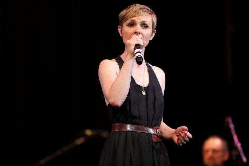 Kat Edmonson performing at Fred Taylor Scholarship benefit concert at Berklee Performance Center (photo by Kofi Poku)