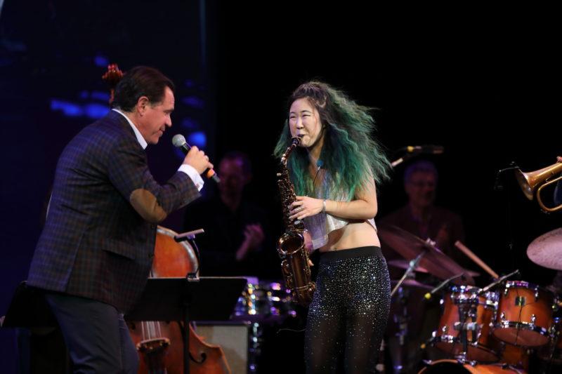 Kurt Elling and Grace Kelly performing at Fred Taylor Scholarship benefit concert at Berklee Performance Center (photo by Kofi Poku)