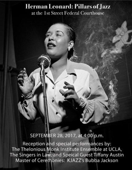 Poster for Pillars of Jazz exhibit in Los Angeles