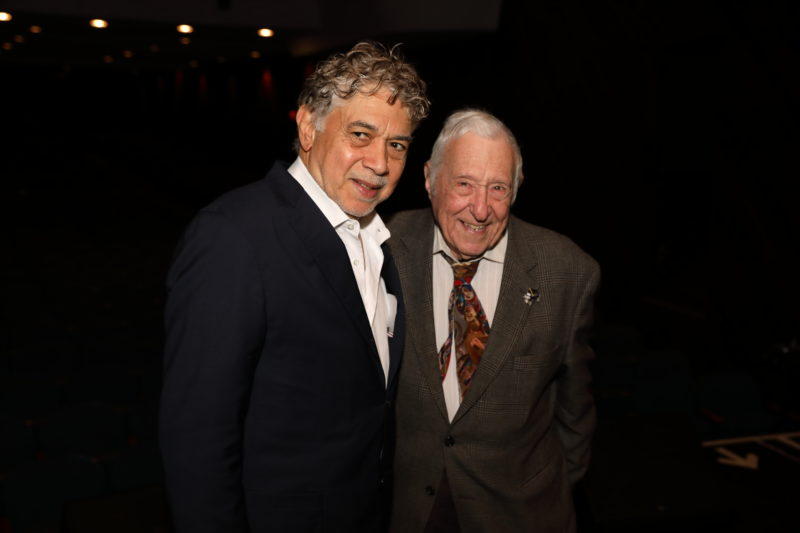Monty Alexanders and Fred Taylor at after party for Fred Taylor Scholarship benefit concert at Berklee Performance Center (photo by Kofi Poku)