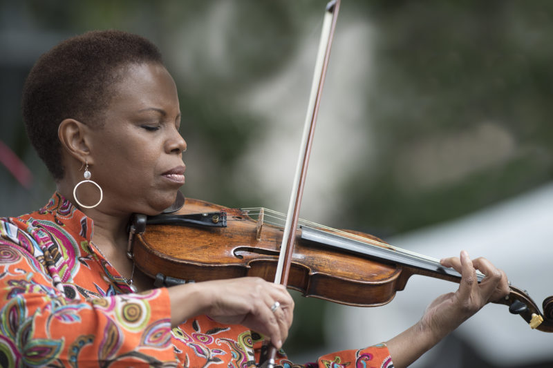 Regina Carter leads her Simply Ella project at the 2017 Detroit Jazz Festival