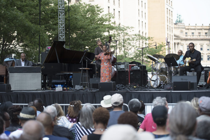 Violinist Regina Carter leads her Simply Ella project at the 2017 Detroit Jazz Festival