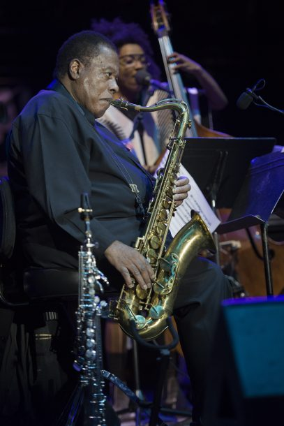 Photo of Wayne Shorter at the Detroit Jazz Festival
