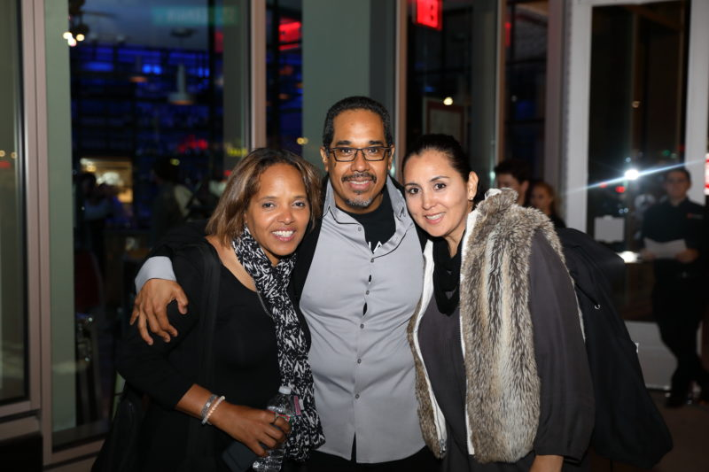 Terri Lyne Carrington, Danilo Perez and Patricia Zarate at after party for Fred Taylor Scholarship benefit concert at Berklee Performance Center (photo by Kofi Poku)