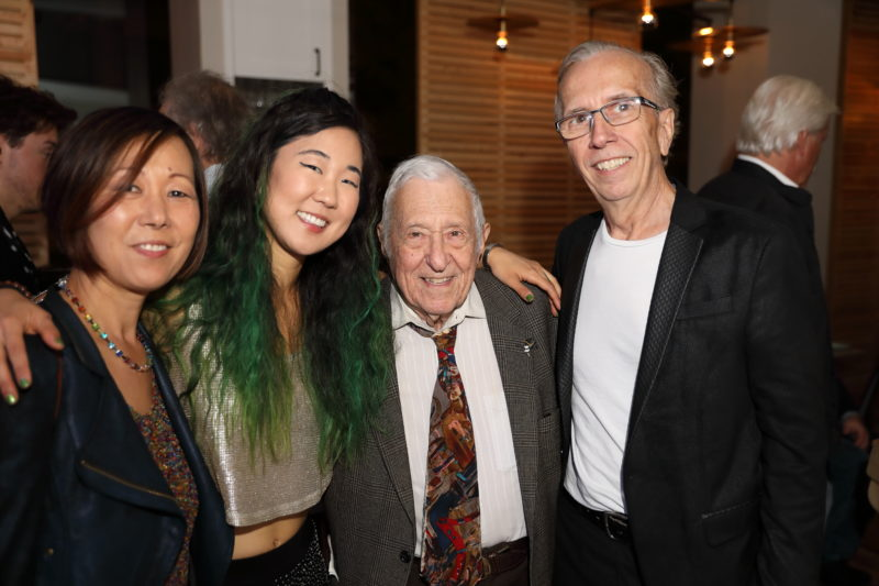 Fred Taylor with (l to r) Irene Chang, Grace Kelly and Bob Kelly, organizers of Fred Taylor Scholarship benefit concert at Berklee Performance Center (photo by Kofi Poku)