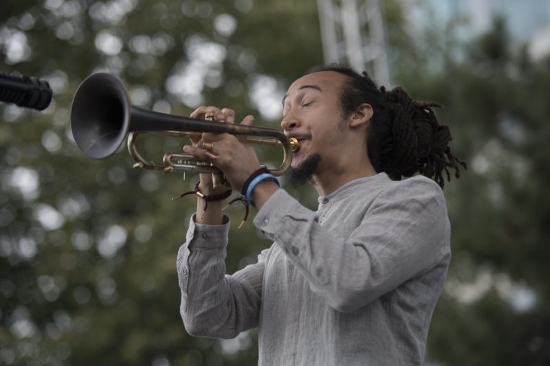Theo Croker at the 2017 Detroit Jazz Festival