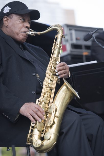 Wayne Shorter at the 2017 Detroit Jazz Festival (photo by Marek Lazarski)