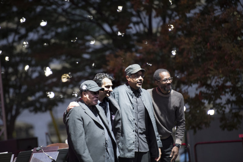 Wayne Shorter, John Patitucci, Danilo Pérez and Brian Blade (from left) at the 2017 Detroit Jazz Festival