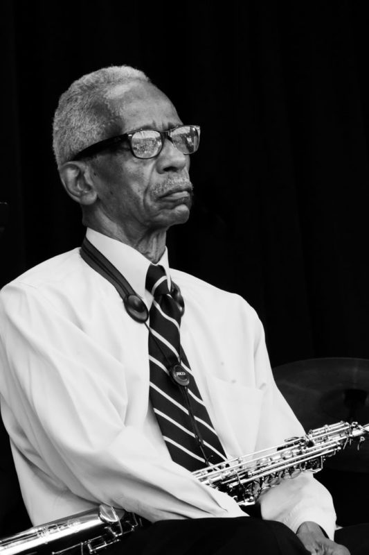 Roscoe Mitchell performing at the 2017 Chicago Jazz Festival (photo by Lauren Deutsch)