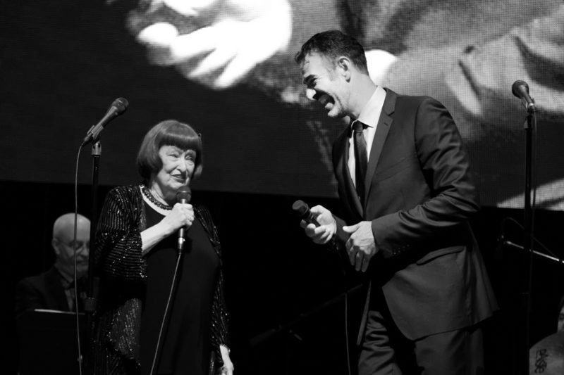 Sheila Jordan and Paul Marinaro performing at the 2017 Chicago Jazz Festival (photo by Lauren Deutsch)
