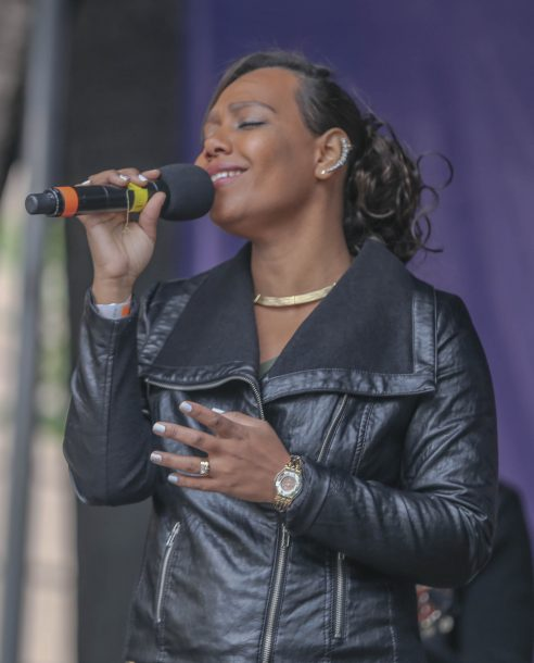 Assol Garcia performing at 2017 Berklee Beantown Jazz Festival (photo by Joseph Allen)